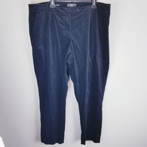 Talbots signiture black career velour pants 22